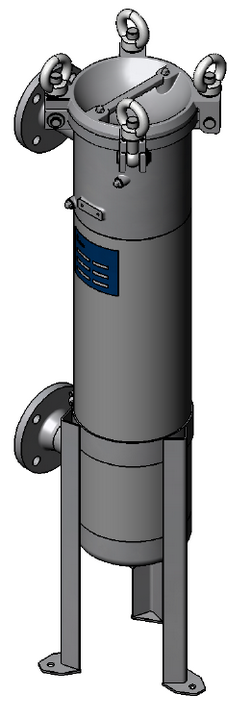 Bagfilter Housing BFOS-2S - DN50 Flange