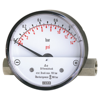 Air Differential Pressure Gauge, 0-2 bar