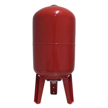 "100 L Pressure Tank - Vertical - Steel - 1"" (red)"