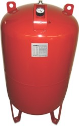 "300 L Pressure Tank - Vertical - Steel- 1¼"" (red)"