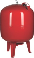 "200 L Pressure Tank - Vertical - Steel - 1¼"" (red)"